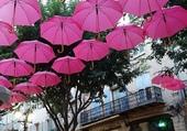 La valse des parapluies rose