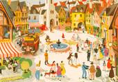 Puzzle Hélène Poirier : La place du village