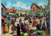 Puzzle Une foire au Moyen-Age