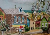 Puzzle Yves Brayer : Village russe