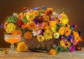 Joli panier de fleurs