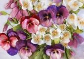 bouquet peint