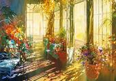 intérieur fleuri