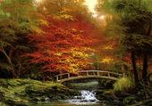 Puzzle le pont en automne