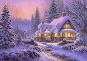 Puzzle Noël de neige