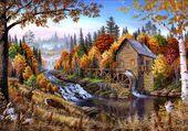 Puzzle joli moulin