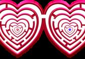 Puzzle Labyrinthe double coeur