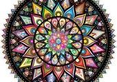 Puzzle mandala multicolore