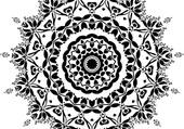 Puzzle Mandala noir et blanc