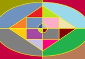 Puzzle Tableau multi couleur