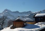Puzzle neige en montagne