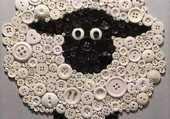 Puzzle un mouton en bouton