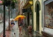 Puzzle Sous la pluies