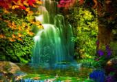 Puzzle Le lac irisée