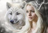 Puzzle le loup et la belle