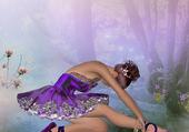 Puzzle Ballerine violette