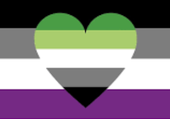 Puzzle drapeaux asexuel aromentique