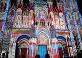 Puzzle Cathédrale de ROUEN, illuminée